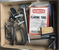 Tool lot  Includes clamps and more