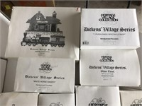 Lot Of 10 Department 56 Dickens Village Series