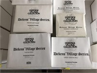 Lot Of 9 Department 56 Dickens Village Series