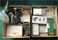 2 Box Lots Of Department 56 Village Accessories