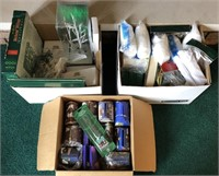 4 Box Lots Of Department 56 Village Accessories,