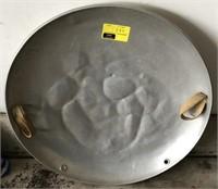 Vintage metal saucer sled