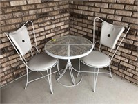 Outdoor table set and wind chime