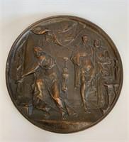 Heavy Large Cast Bronze MacBeth Mediallian