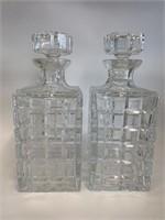 Pair of Fine Cut Glass Liquour Deanters
