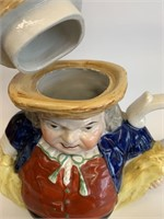 Antique English Hand Painted Tea Pot