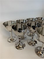 Group of EP Brass Stemware