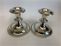 Pair of Fine Silver Plated Candle Stick Holders