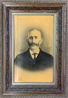 Fine Wooden Framed Photos of Early Gent