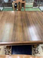 Fine Walnut Pedesal Base Dining Table