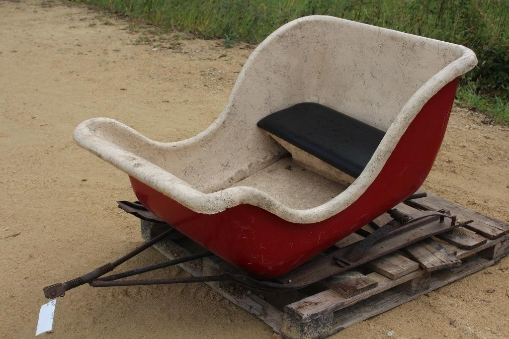 Vintage Fibergl Cutter Sleigh For Snowmobile Hibid Auctions