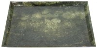Chinese Qing Dynasty Spinach Jade Tray