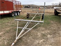 Double Hitch Irrigation Pipe Trailer