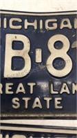 Matching Set of 2 -  1973 Michigan License Plates