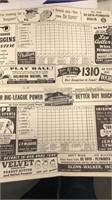 1949 & 1950 Detroit Tigers Scorebook Briggs