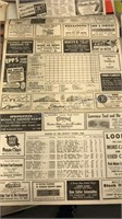 "Lot of 2 1945 Detroit Tigers Score Cards 9 1/2"" x"