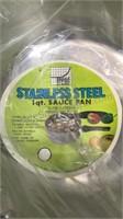 Set of 3 Trend Stainless Steel Sauce Pans unused