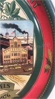 """Vintage Stroh's Brewery Detroit  Metal  Tray 13"""""""