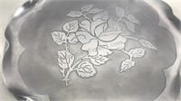"""Vintage Stamped and Etched 18"""" Diameter Aluminum"""