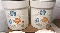 Set of 4 Matching Ceramic Canisters