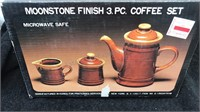Moonstone Finish Coffee Set &  4pc Soup Set In