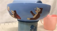 Lot of 7pcs Vintage Children's Plates and Cups