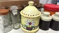 Lot of Storage Jars Glass and Ceramic 22pcs