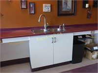 Workstation with Double SS Sink & Faucets