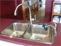 8 Workstation with Double SS Sink & Faucets