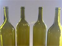 Four Matching Mega Wine Bottles