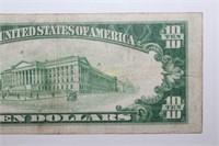 1929 Hershey PA Ten Dollar Banknote