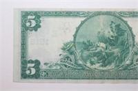 1905 Mount Joy PA Five Dollar Banknote