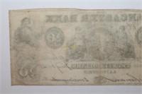 1852 The Lancaster Bank Twenty Dollar Banknote