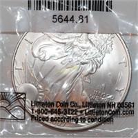 2007 Uncirculated American Eagle Silver Dollar