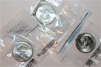Three Uncirculated Susan B. Anthony Dollars