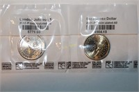 Uncirculated Sacagawea + Lyndon B. Johnson Dollars