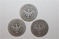 A 1912 and Two 1914 Barber Quarters
