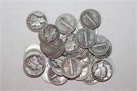 Thirty Silver Mercury Dimes