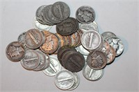 Fifty Silver Mercury Dimes