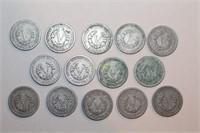 "Fourteen Liberty Head ""V"" Nickels"