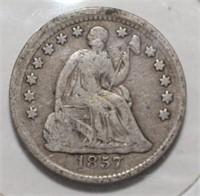 1857 Liberty Seated Half Dime