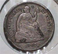 1862 Liberty Seated Half Dime