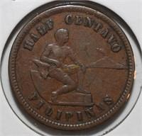 1903 Half Centavo Filipinas United States Coin