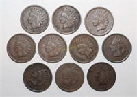 Ten Indian Head Pennies
