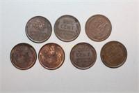 Seven Wheat Pennies