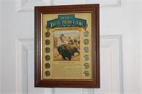 Framed Display of Twelve Buffalo Nickels