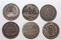 Cufflinks, Rough Indian Head + Flying Eagle Coins