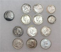 Silver Canadian Dimes and Nickels