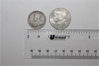 Two Silver Shilling Coins