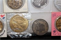 Collection of 34 Tokens and Medallions